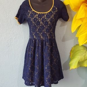 Eyelet lace mini dress size S